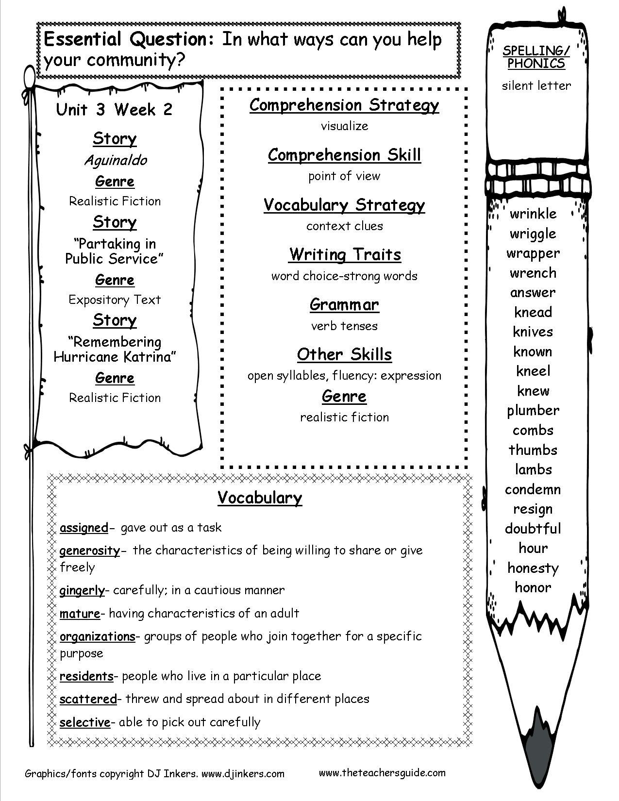 Mrs  Kresley / Fourth Grade Wonders